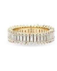 Adina Reyter Full Stack Baguette Ring - Metallic