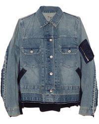 Sacai Denim X Ma-1 Jacket - Blue