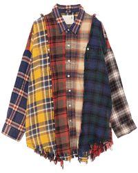 R13 Plaid Shirt - Blue