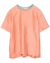 Marni Printed Crewneck - Orange