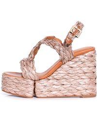 Clergerie - Ally Platform Sandal In Papaya - Lyst