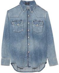 R13 Freddie Cowboy Shirt - Blue
