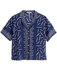 Alex Mill Silk Cotton Arrow Shirt - Blue