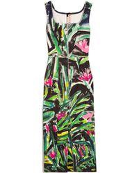 Marni Sleeveless Square Neck Dress - Green