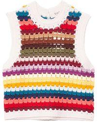 Sea Ziggy Crochet Vest - Multicolour