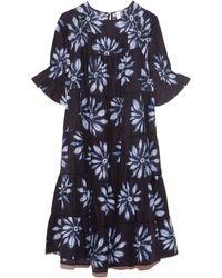 Merlette Paradis Shibori Dress - Blue