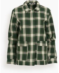 Ciao Lucia Felicity Plaid Cotton Twill Jacket - Green