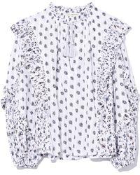 83d86b34ab4 Lyst - Ulla Johnson Kati Blouse In White