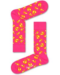 Happy Socks Pizza Sock - Geel