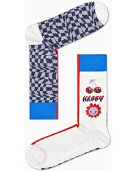 Happy Socks - Half/half Optic Sock - Lyst