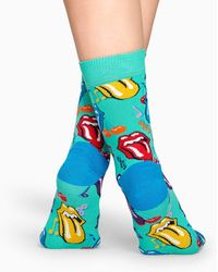 Happy Socks Rolling Stones Tumbling Dice Sock - Blauw