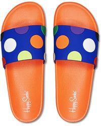 Happy Socks Pool Slider Big Dot - Jaune
