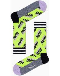 Happy Socks Happy Logo Thin Crew Sock - Multicolore
