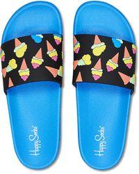 Happy Socks Pool Slider Ice Cream - Bleu