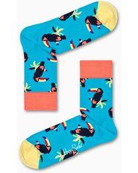 Happy Socks - Toucan 1/2 Crew Sock - Lyst