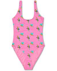 Happy Socks Parrot Swimsuit - Roze