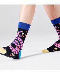 Happy Socks Tropical Snake Sock - Azul