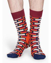 Happy Socks Brick Sock - Rojo