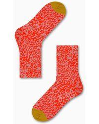 Happy Socks Charlie Ankle Sock - Rood
