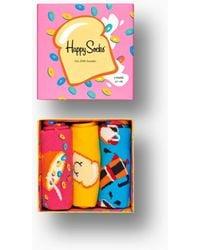 Happy Socks Toast Sock - Geel