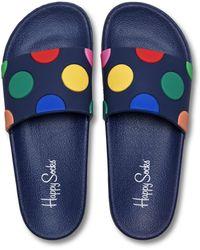 Happy Socks Pool Slider Dot - Blauw