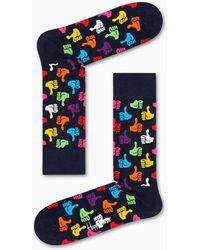 Happy Socks Thumbs Up Sock - Blauw