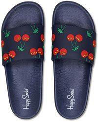 Happy Socks Pool Slider Cherry - Bleu