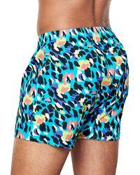 Happy Socks Leopard Boxer - Blauw