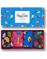 Happy Socks Forest Gift Box - Bleu