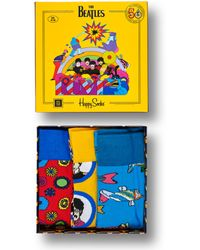 Happy Socks The Beatles Socks Box Set - Geel