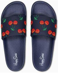 Happy Socks Pool Slider Cherry - Blauw