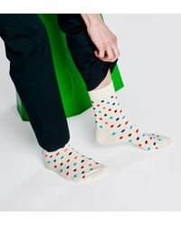 Happy Socks Dot 1/2 Crew Sock - Weiß