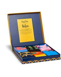 Happy Socks The Beatles Collector Box Set - Blauw