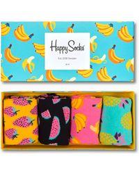 Happy Socks Fruit Socks Gift Box - Mehrfarbig