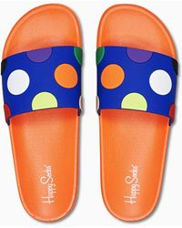 Happy Socks Pool Slider Big Dot - Orange