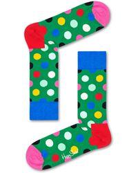 Happy Socks Big Dot Sock - Grün
