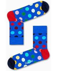 Happy Socks - Faded Dot 1/2 Crew Sock - Lyst