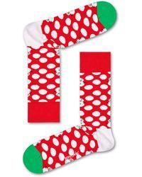 Happy Socks Big Dot Snowman Sock - Rouge