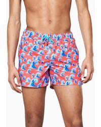 Happy Socks Wave Swim Shorts - Azul