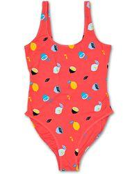 Happy Socks Lemon Swimsuit - Roze