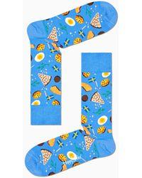 Happy Socks Midsummer Food Sock - Blauw