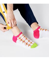 Happy Socks Athletic Happy Pique Cuff Low Sock - Mehrfarbig