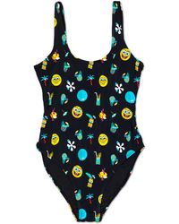 Happy Socks Spongebob Black Swimsuit - Zwart