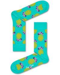 Happy Socks Pineapple Sock - Grün