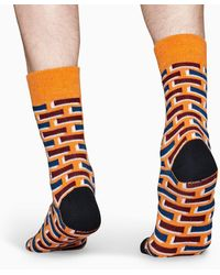 Happy Socks Wool Brick Sock - Naranja