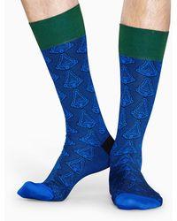 Happy Socks Dressed Art Sock - Blauw