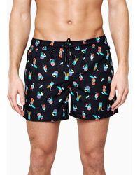 Happy Socks Tiki Soda Swim Shorts - Meerkleurig