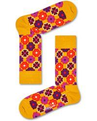Happy Socks Flower Power Sock - Orange