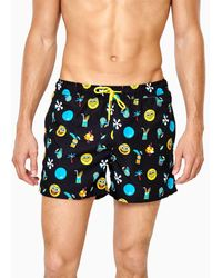 Happy Socks Spongebob Black Swim Shorts - Meerkleurig