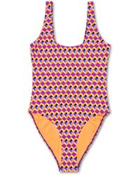 Happy Socks Optic Square Swimsuit - Rood